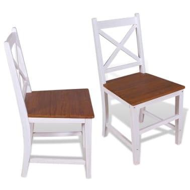 vidaXL Трапезни столове, 2 бр, тиково дърво и махагон масив[2/8]