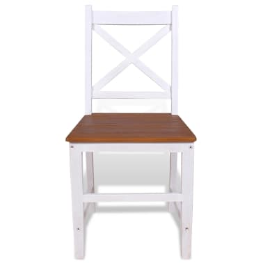vidaXL Трапезни столове, 2 бр, тиково дърво и махагон масив[4/8]