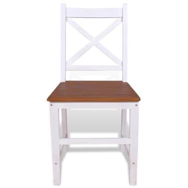 vidaXL Καρέκλες Τραπεζαρίας 2 τεμ. από Μασίφ Ξύλο Teak και Μαόνι[4/8]