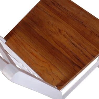vidaXL Трапезни столове, 2 бр, тиково дърво и махагон масив[7/8]