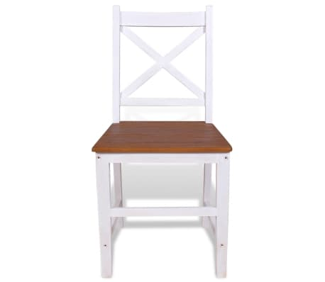 vidaXL Dining Chairs 4 pcs Solid Teak Mahogany[3/7]