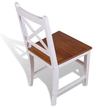 vidaXL Dining Chairs 4 pcs Solid Teak Mahogany[5/7]