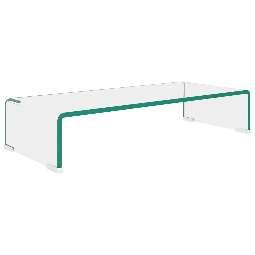 vidaXL TV-benk glass klar 60x25x11 cm