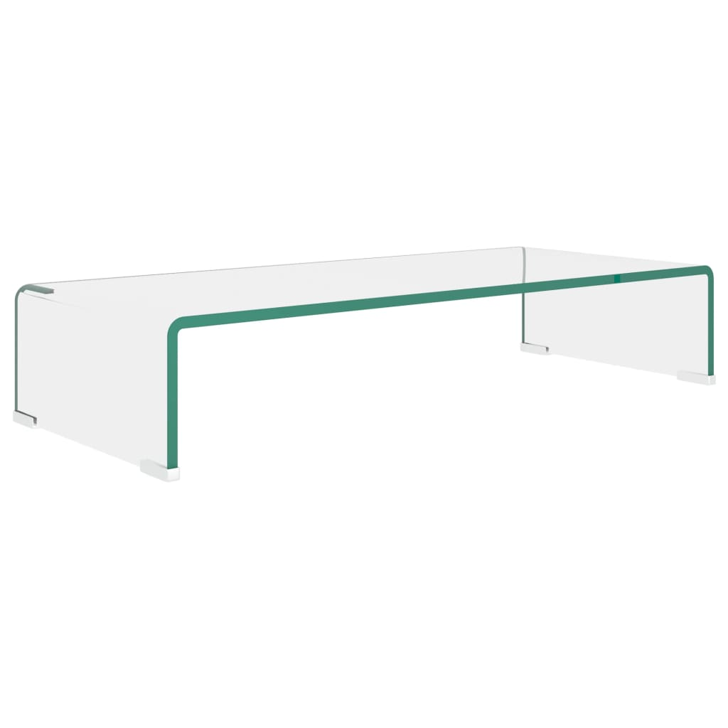 vidaXL TV stolek / podstavec na monitor čiré sklo 70x30x13 cm