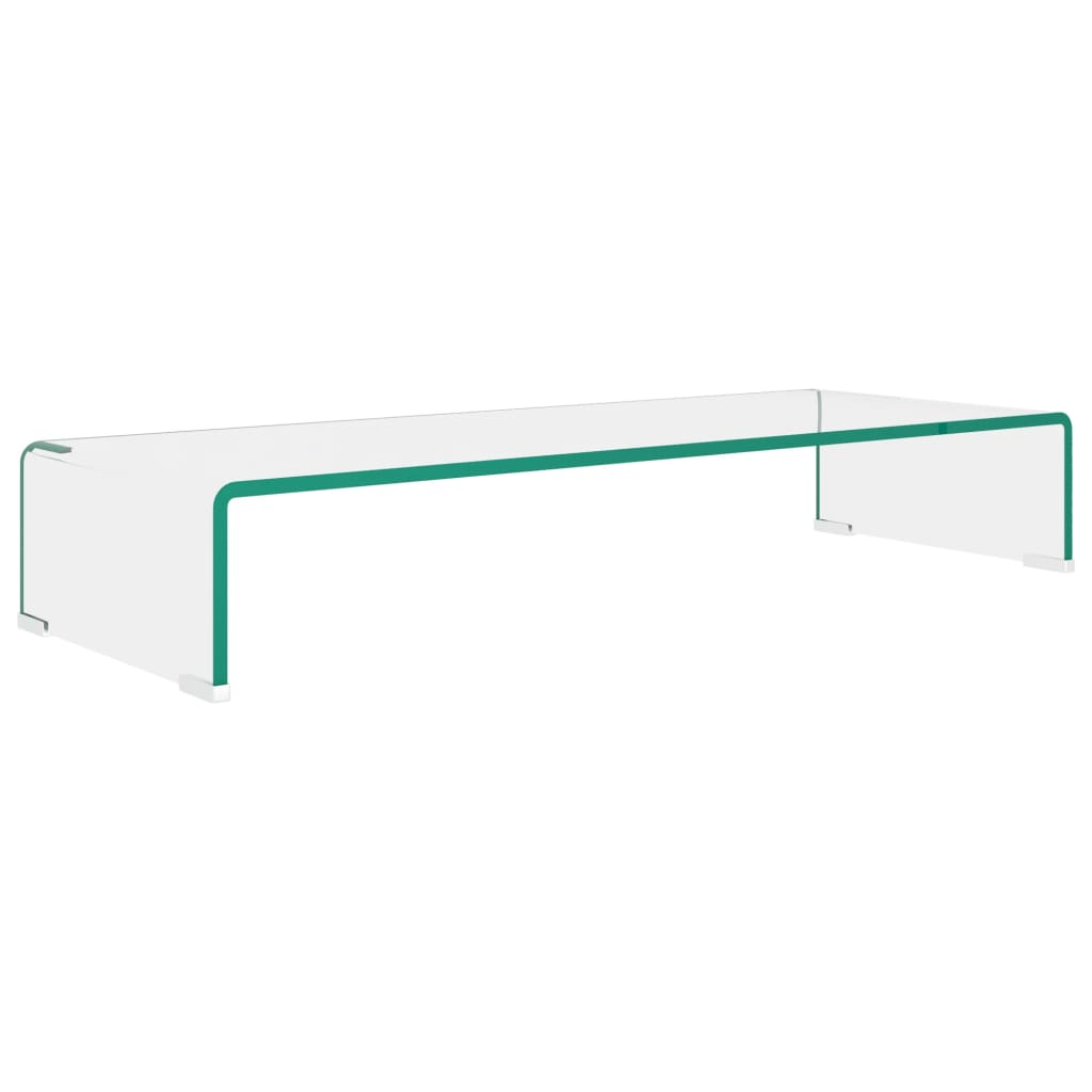 vidaXL TV-benk glass klar 80x30x13 cm