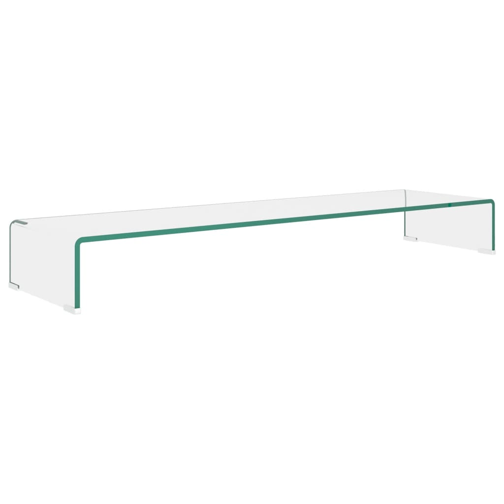 vidaXL TV-benk glass klar 110x30x13 cm