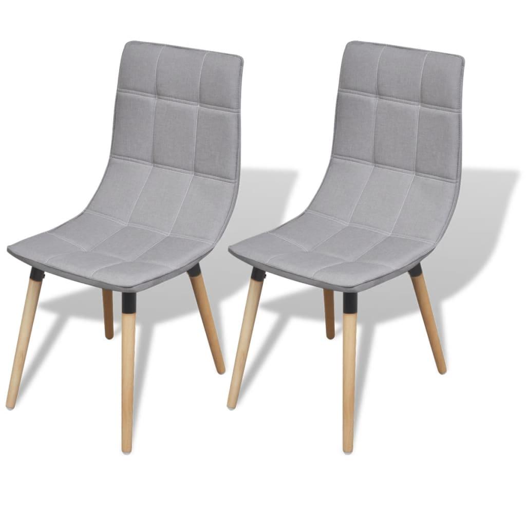 vidaXL Καρέκλες Τραπεζαρίας 2 τεμ. Ανοιχτό Γκρι