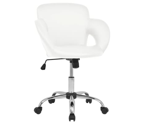 vidaXL Barová stolička bílá umělá kůže