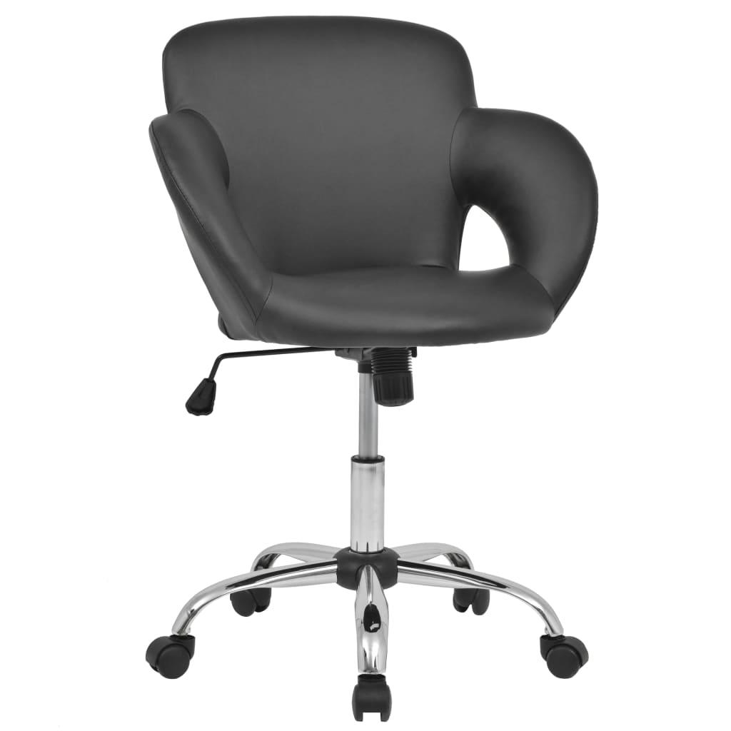 vidaXL Otočná barová stolička, umělá kůže, černá