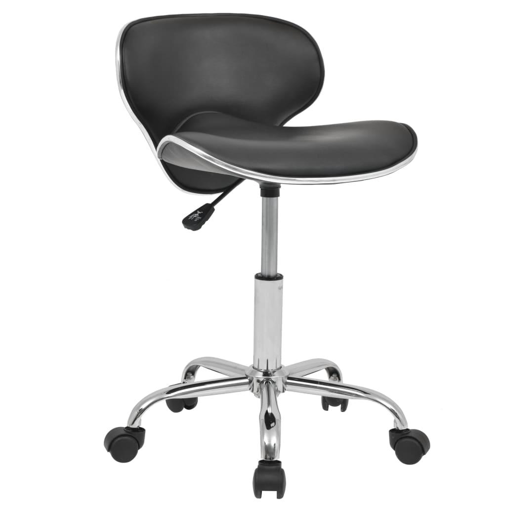 vidaXL Otočná židle do salónů krásy a spa z umělé kůže černá