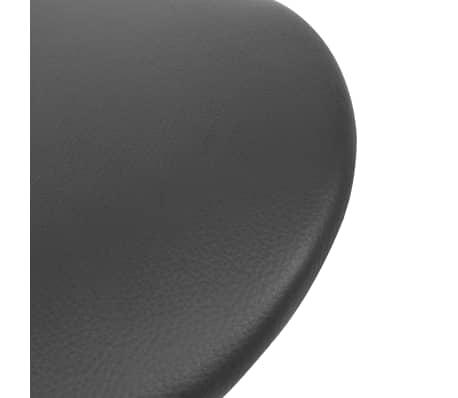vidaXL Vrtljiv salonski stolček umetno usnje črne barve[5/6]