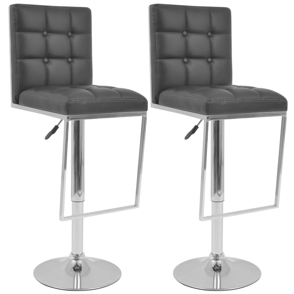 vidaXL Otočné barové židle, 2 ks, umělá kůže, černá