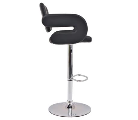 acheter vidaxl tabouret pivotant de bar 2 pcs cuir artificiel noir pas cher. Black Bedroom Furniture Sets. Home Design Ideas