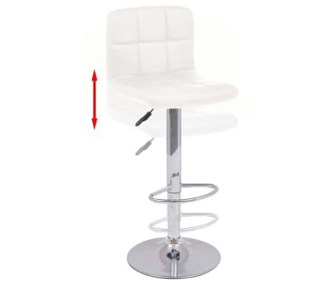 vidaXL Snurrbara barstolar med ryggstöd 2 st konstläder vit[2/8]