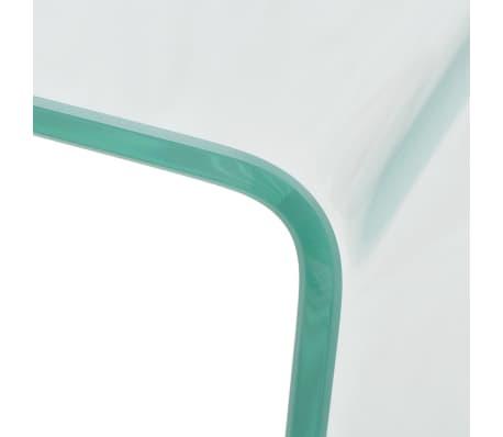 vidaXL Kavos staliukas, grūdintas stiklas, 49,5x50x45 cm, skaidrus[4/6]