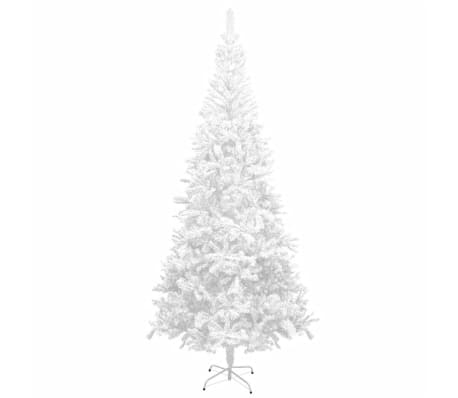 vidaXL Kunstig juletre L 240 cm hvit