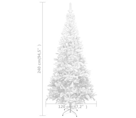 vidaXL Kunstkerstboom wit L 240 cm[6/6]