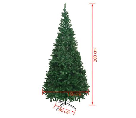vidaXL mākslīgā Ziemassvētku egle XL, 300 cm, zaļa[7/7]