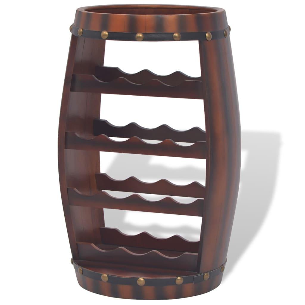 Afbeelding van vidaXL Wijnrek vatvormig bruin 14 flessen