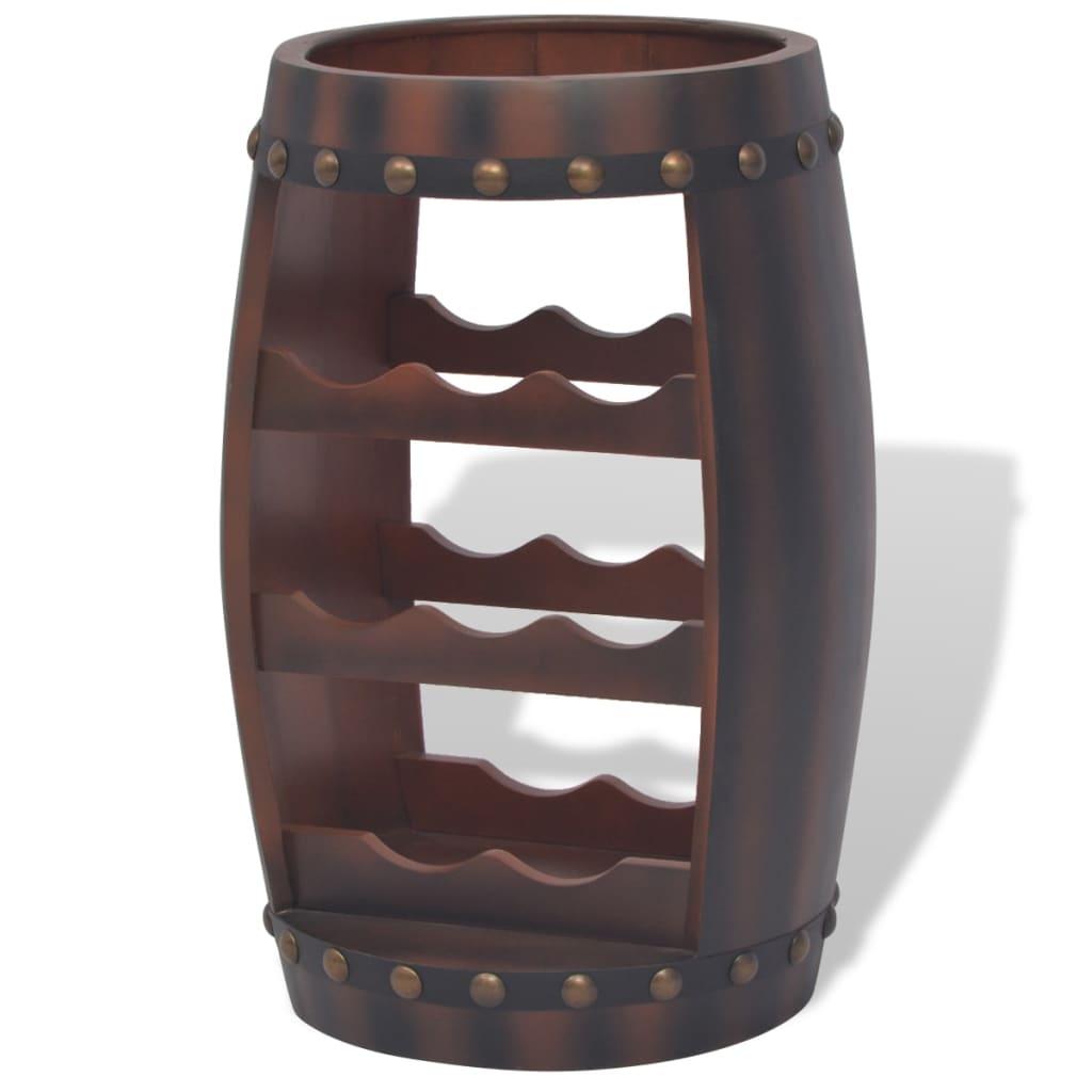 Afbeelding van vidaXL Wijnrek vatvormig bruin 8 flessen
