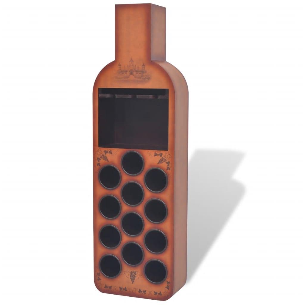 Afbeelding van vidaXL Wijnrek flesvormig bruin 12 flessen
