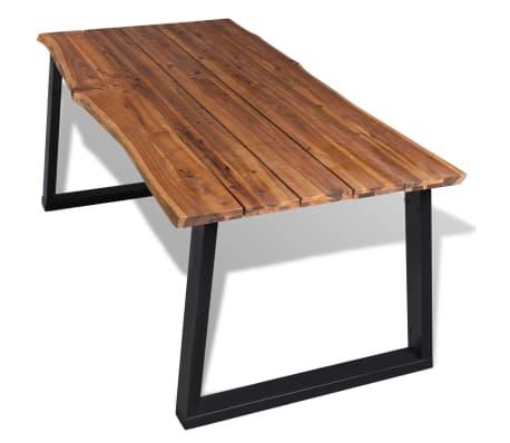 """vidaXL Dining Table Solid Acacia Wood 70.9""""x35.4""""[2/7]"""