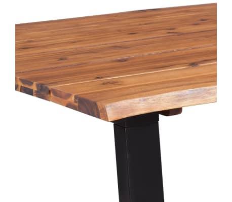 """vidaXL Dining Table Solid Acacia Wood 70.9""""x35.4""""[6/7]"""