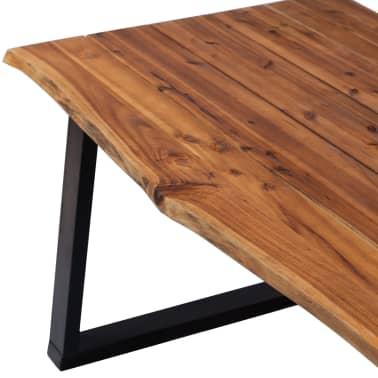 """vidaXL Dining Table Solid Acacia Wood 70.9""""x35.4""""[3/7]"""