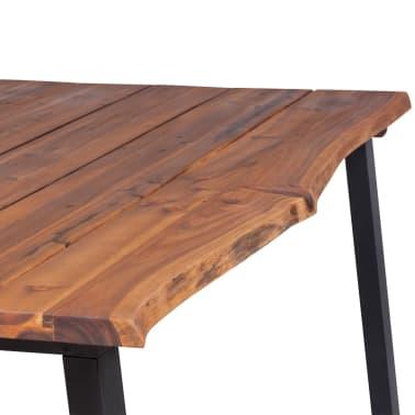 """vidaXL Dining Table Solid Acacia Wood 70.9""""x35.4""""[5/7]"""