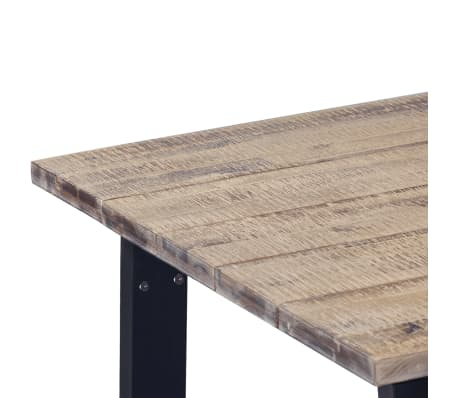 "vidaXL Dining Table Solid Acacia Wood 66.9""x35.4""x29.5""[4/6]"