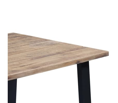 "vidaXL Dining Table Solid Acacia Wood 66.9""x35.4""x29.5""[5/6]"