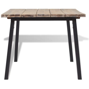 "vidaXL Dining Table Solid Acacia Wood 66.9""x35.4""x29.5""[3/6]"