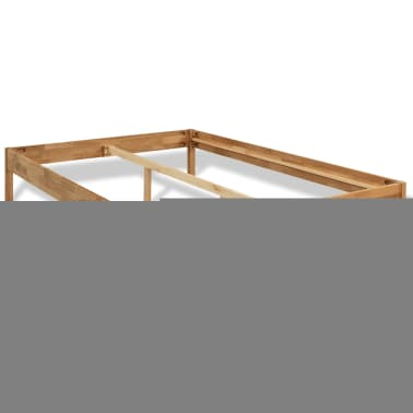 "vidaXL Bed Frame Solid Oak Wood 70.9""x78.7"" Natural[2/8]"