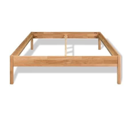 "vidaXL Bed Frame Solid Oak 70.9""x78.7"" Natural[3/8]"
