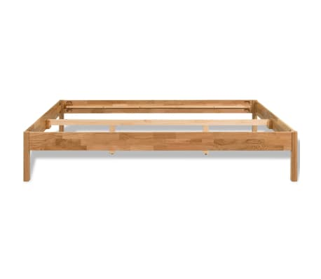 "vidaXL Bed Frame Solid Oak 70.9""x78.7"" Natural[4/8]"