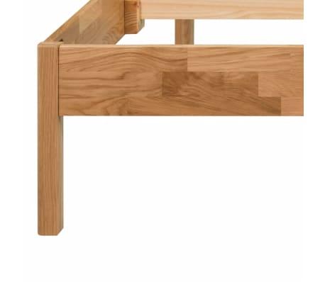 "vidaXL Bed Frame Solid Oak Wood 70.9""x78.7"" Natural[5/8]"