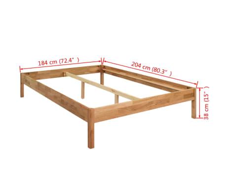 "vidaXL Bed Frame Solid Oak 70.9""x78.7"" Natural[8/8]"