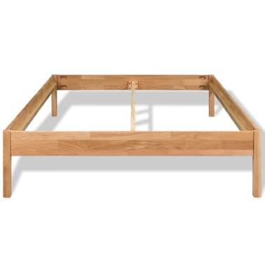"vidaXL Bed Frame Solid Oak Wood 70.9""x78.7"" Natural[3/8]"