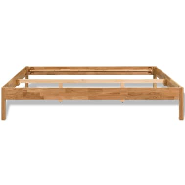 "vidaXL Bed Frame Solid Oak Wood 70.9""x78.7"" Natural[4/8]"