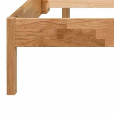 "vidaXL Bed Frame Solid Oak 70.9""x78.7"" Natural[5/8]"
