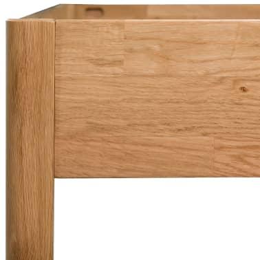 "vidaXL Bed Frame Solid Oak 70.9""x78.7"" Natural[6/8]"