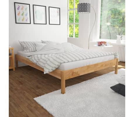 "vidaXL Bed Frame Solid Oak Wood 70.9""x78.7"" Natural[1/8]"
