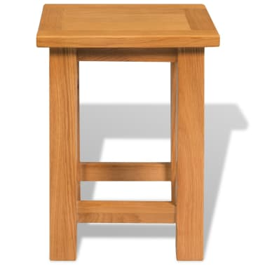 vidaXL End Table 27x24x37 cm Solid Oak Wood[2/5]