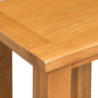 vidaXL End Table 27x24x37 cm Solid Oak Wood[4/5]