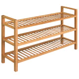 "vidaXL Shoe Rack with 3 Shelves Solid Oak Wood 39.4""x10.6""x23.4"""
