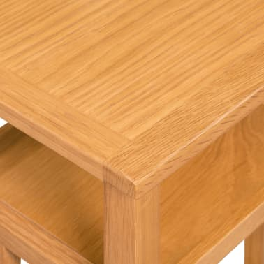 "vidaXL End Table with Magazine Shelf Solid Oak 10.6""x13.8""x21.7""[5/6]"