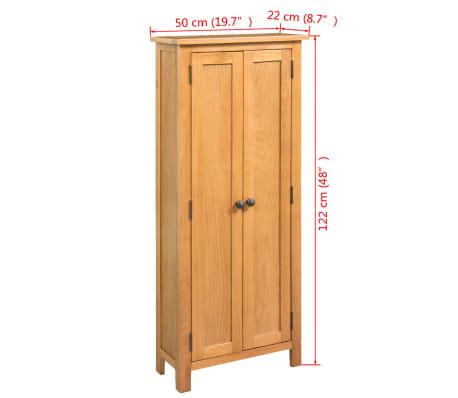 vidaXL Armario de almacenaje de madera de roble maciza 50x22x122 cm[6/6]