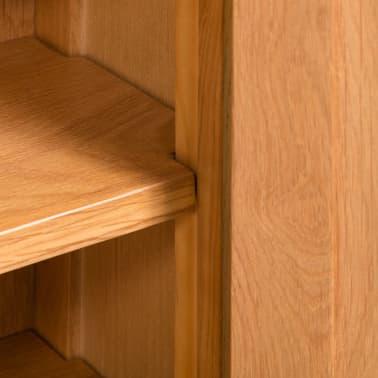 vidaXL Armario de almacenaje de madera de roble maciza 50x22x122 cm[5/6]