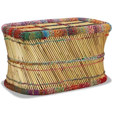 vidaXL Couchtisch Bambus mit Chindi-Details Mehrfarbig[1/9]