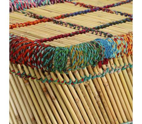 vidaXL Table basse Bambou avec Détails Chindi Multicolore[8/9]